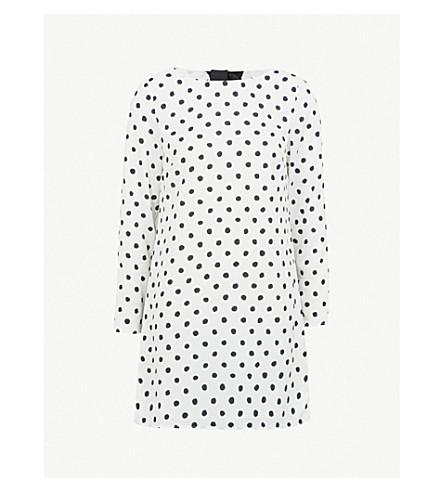 KITRI Lise polka dot-print crepe mini dress (Polka+dot