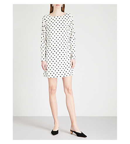 KITRI Lise polka dot-print crepe mini dress (Polka+dot