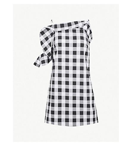 KITRI Alison gingham cotton dress (Black/white