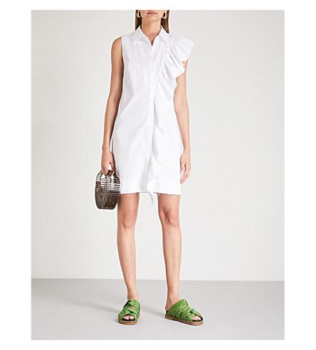 KITRI Valse ruffled cotton shirt dress