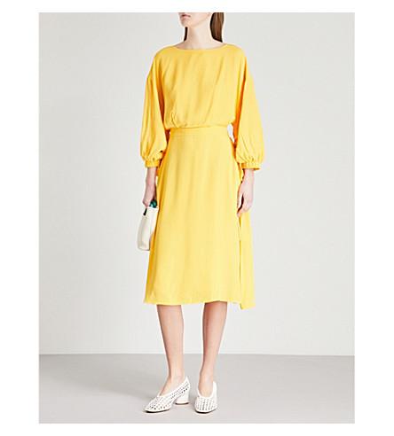 KITRI Titania Sushine woven midi dress (Yellow