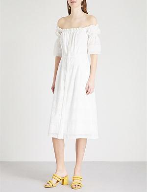 KITRI Gelsey off-the-shoulder smocked dress