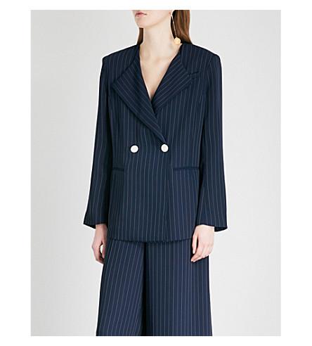 KITRI Eve pinstriped woven blazer (Pinstripe