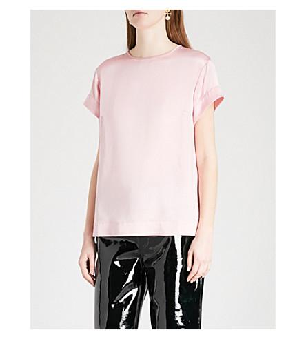 KITRI Olivia short-sleeved silk top (Pink