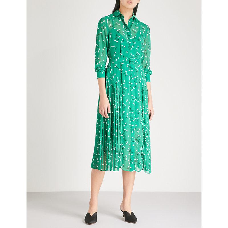 KITRI Gabriella floral-print chiffon midi shirt dress