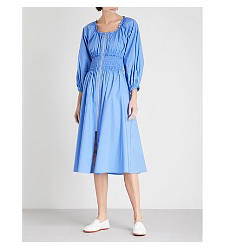 de aciano vestido cintura Athena entallada elástico algodón azul KITRI con q4TxRwEH