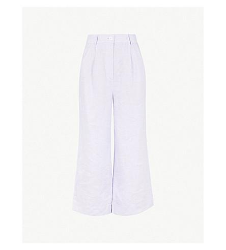 KITRI Carlotta wide-leg linen pants (Lavender