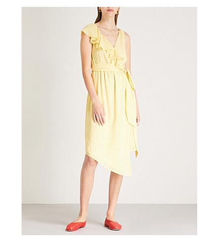 KITRI Francesca ruffled crepe dress (Yellow