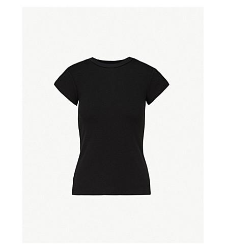 KITRI Rumi ribbed-knit T-shirt (Black