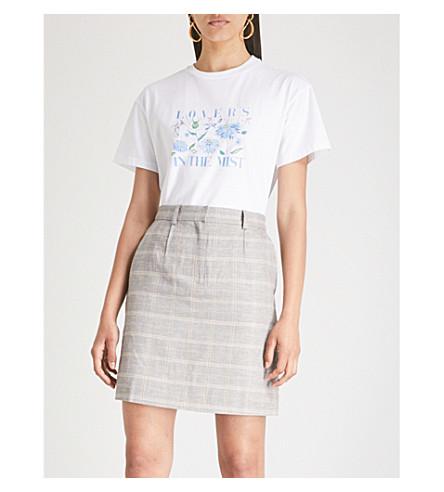 KITRI Lovers meadow-print cotton-jersey T-shirt (White