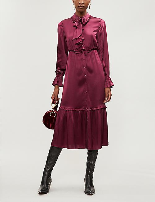 3ddd75862b KITRI Romily silk-blend dress