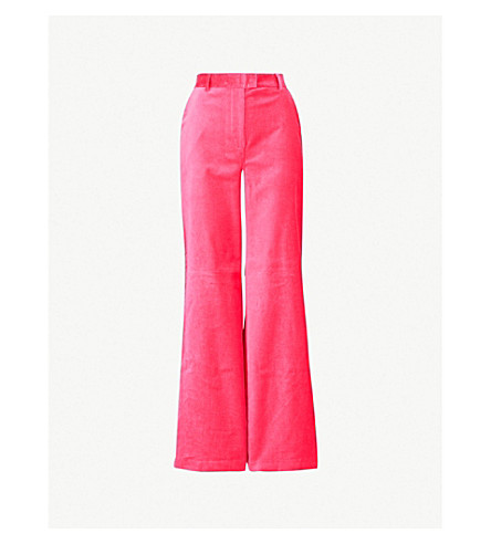 RIKA BY ULRIKA LUNDGREN Cato wide-leg cotton trousers (Pink