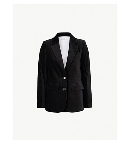 RIKA BY ULRIKA LUNDGREN Finch velvet jacket (Black
