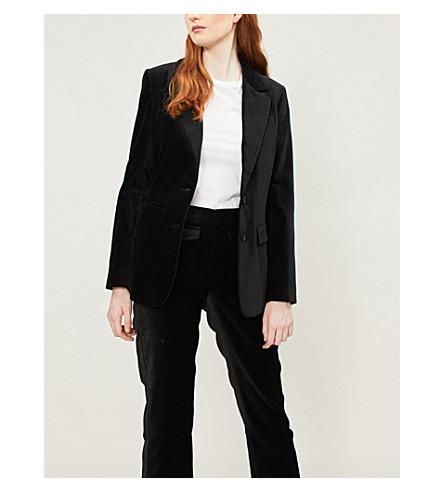 RIKA BY ULRIKA LUNDGREN Finch velvet jacket (Black