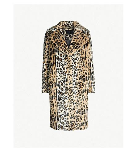 KENDALL & KYLIE Leopard-print faux-fur coat (Leopard