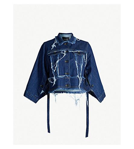 KITX Conservation frayed denim jacket (Blue