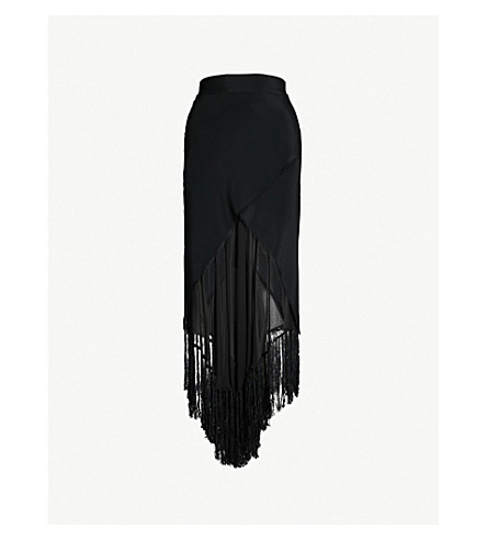 KITX Humane Crossover silk-crepe midi skirt (Black