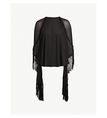 KITX Humane silk cape top (Black