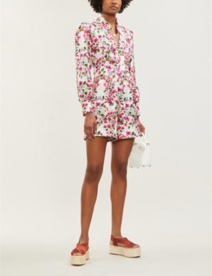 Minnie floral-print playsuit