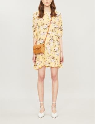Jeanette floral-print rayon dress