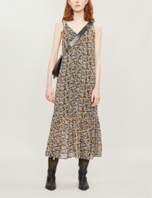 Georgina floral-print crepe dress