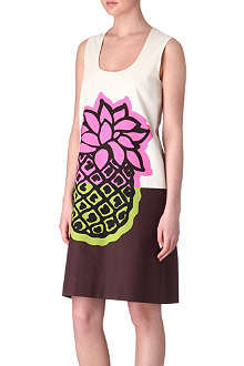 MOSCHINO CHEAP AND CHIC Pineapple-print dress