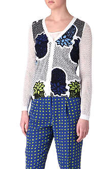 MOSCHINO CHEAP AND CHIC Pineapple-print cardigan