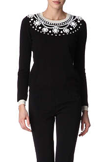 MOSCHINO CHEAP AND CHIC Embellished jumper