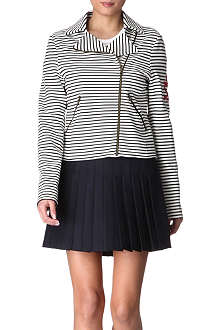 MOSCHINO CHEAP AND CHIC Striped biker jacket