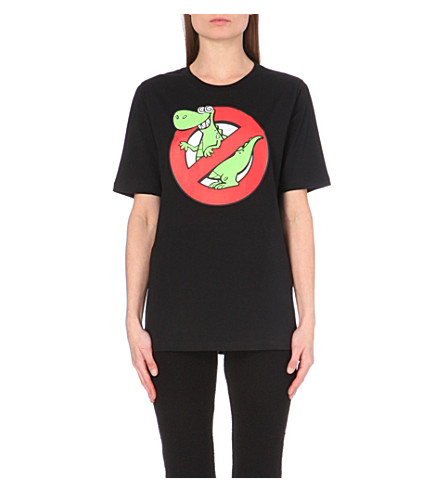 Moschino cheap and chic printed cotton jersey t shirt for Get shirts printed cheap