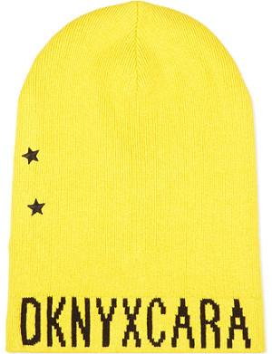 DKNY X CARA DKNY X CARA knitted beanie