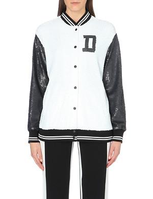 DKNY Sequinned varsity jacket