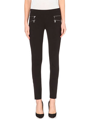 DKNY Zip-detail stretch-jersey leggings