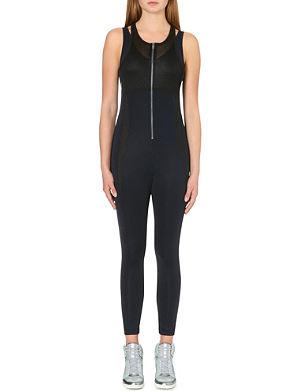 DKNY X CARA Mesh-panelled bodysuit
