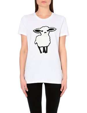 DKNY Applique sheep cotton T-shirt