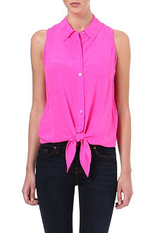 EQUIPMENT Mina tie-front silk shirt