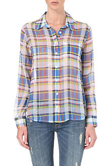 EQUIPMENT Brett checked silk shirt