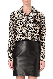 EQUIPMENT Signature leopard-print washed-silk shirt