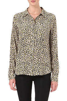 EQUIPMENT Brett leopard-print washed-silk shirt
