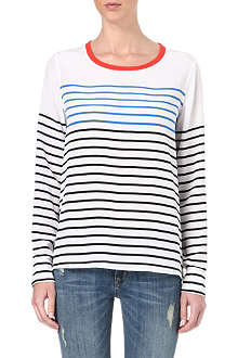 EQUIPMENT Liam striped long-sleeved top