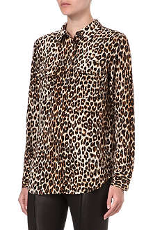EQUIPMENT Signature leopard-print silk shirt