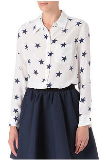 EQUIPMENT Reese star-print silk shirt