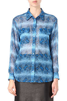 EQUIPMENT Signature snake-print silk shirt