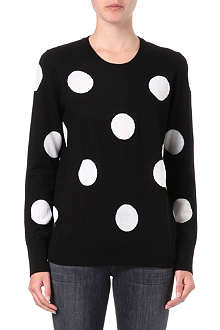 EQUIPMENT Polka-dot knitted jumper
