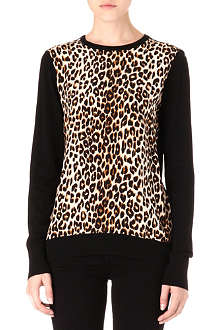 EQUIPMENT Roland leopard-print jumper