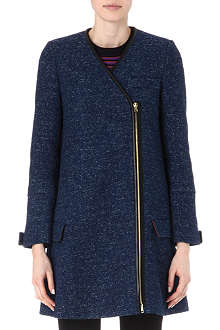 M MISSONI Leather-trimmed coat