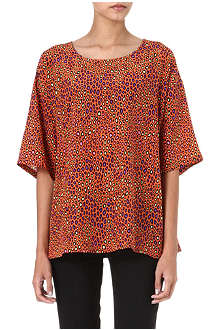 M MISSONI Snake-print silk top