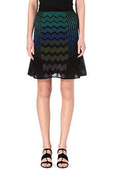 M MISSONI Knitted chevron skirt