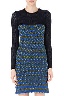 M MISSONI Zig-zag crochet-knit dress
