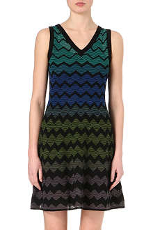 M MISSONI Chevron crochet-knit dress